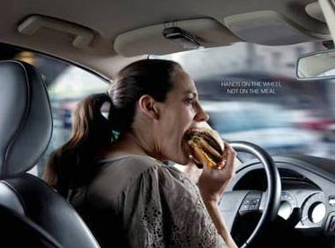 eating while driving. 35% said they had taken clothes off ...